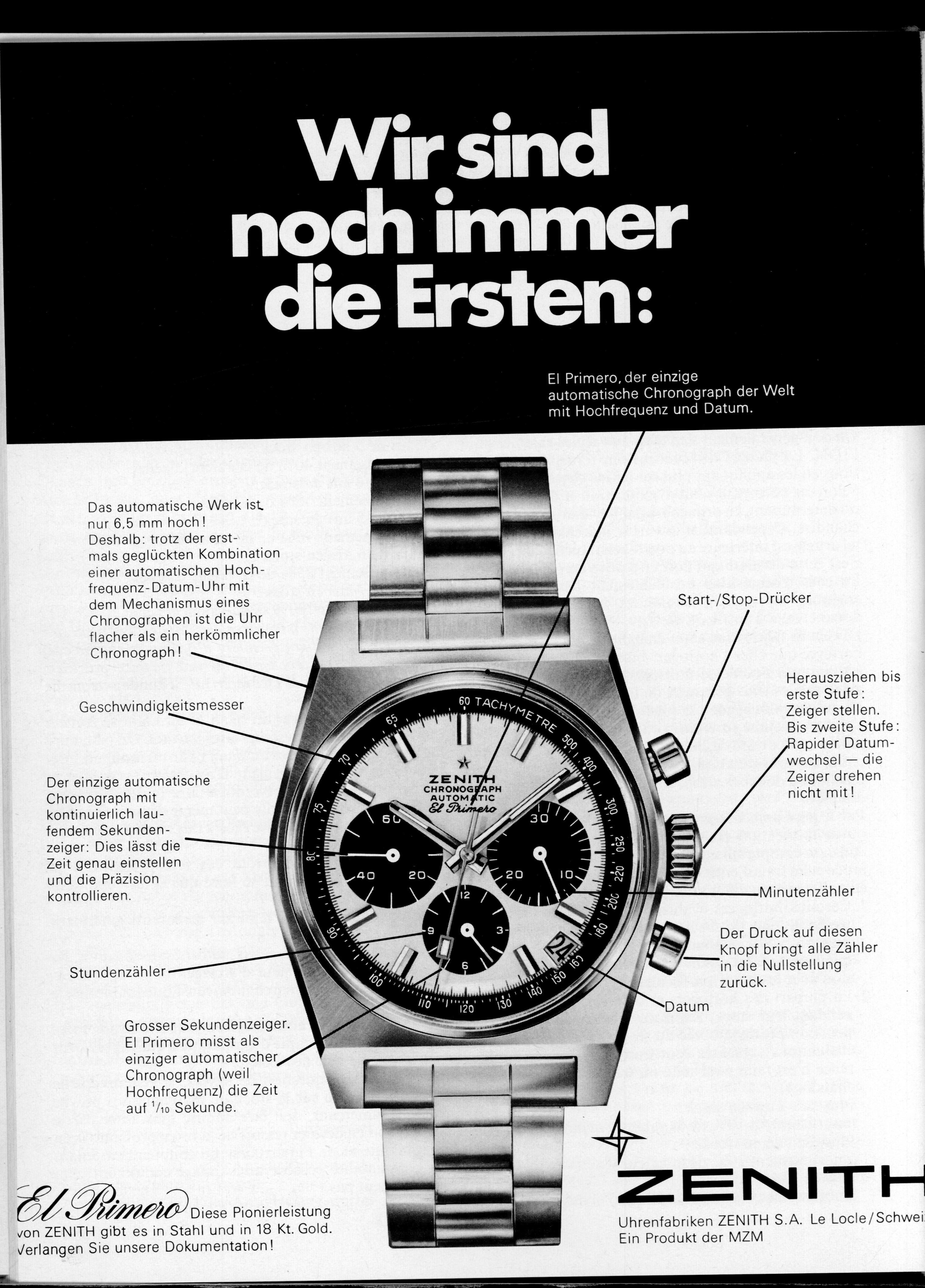 ZENITH HERITAGE 1971 DE Ad SUZ Wirsindimmernochdieersten